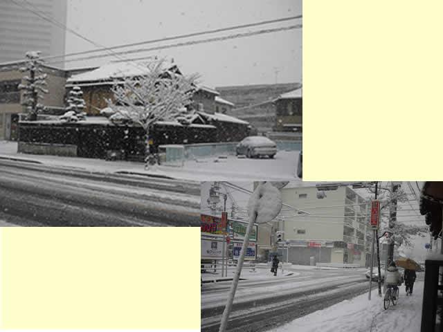 名古屋も大雪